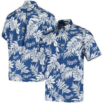 """メンズ シャツ """"Kansas City Royals"""" Reyn Spooner Aloha Button-Down Shirt - Royal"""