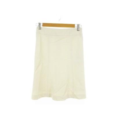 【中古】未使用品 エスピーアール S.P.R スカート タイト ひざ丈 36 白 ホワイト /AAM29 レディース 【ベクトル 古着】