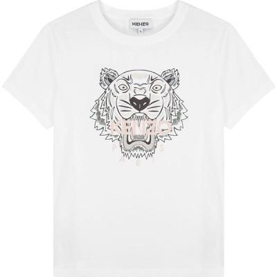 ケンゾー Kenzo レディース Tシャツ トップス White Tiger-Print Cotton T-Shirt White