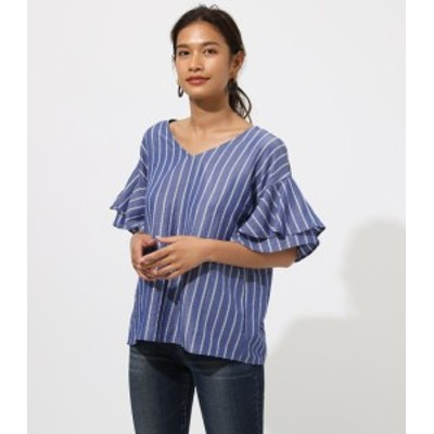 【50%OFF】 BACK RIBBON FRILL BLOUSE WOMENSレディース