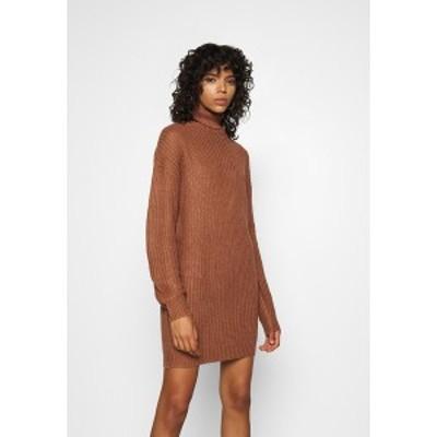 ミスガイデッド レディース ワンピース トップス ROLL NECK BASIC DRESS - Jumper dress - mocha mocha