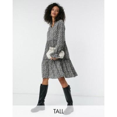 ワイ エー エス Y.A.S Tall レディース ワンピース ミニ丈 ワンピース・ドレス Y.A.S. Tall Aja printed mini smock dress in mutli