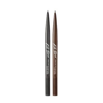 クリオ(clio) キルブロウ0.9mmスリムテックハードペンシル 1ea(0.02g) - 001ナチュラルブラウン : 持続力に優れたハードブロウペンシルタイプで描き立ての眉の模様を1日中キープ