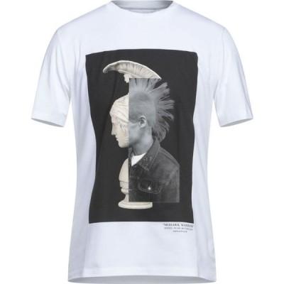 ニール バレット NEIL BARRETT メンズ Tシャツ トップス T-Shirt White