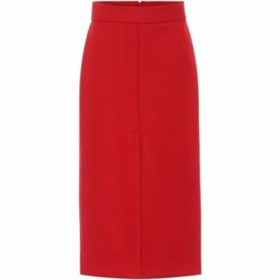 レッド ヴァレンティノ REDValentino レディース ひざ丈スカート スカート wool-blend midi skirt Deep Red