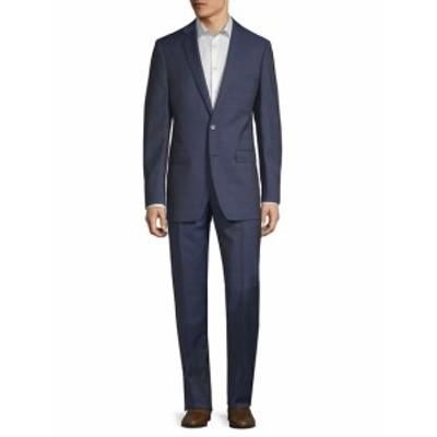 カルバンクライン Men Clothing Plaid Slim-Fit Wool Suit