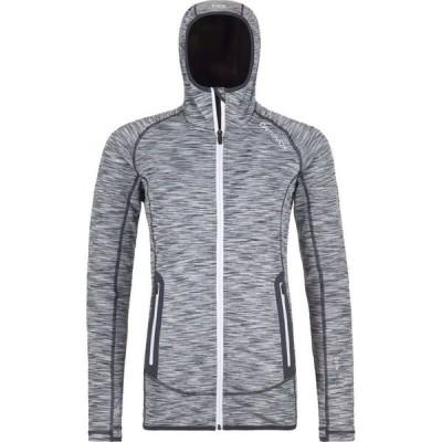 オルトボックス Ortovox レディース ジャケット フード アウター Fleece Space Dyed Hooded Jacket Grey Blend