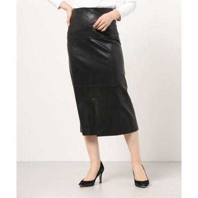 スカート ROOM NO.8 / フェイクレザー フレアスカート