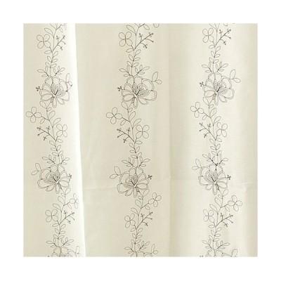 カーテン既製 レースカーテン・アペルボイル (巾100×丈176cm) レース2枚組 ホワイト