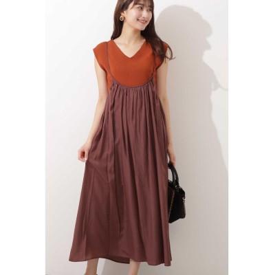 (N Natural Beauty Basic/エヌナチュラルビューティベーシック)ギャザージャンパースカート/レディース ブラウン