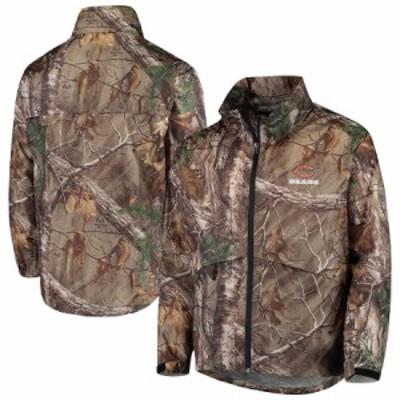 """メンズ ジャケット """"Chicago Bears"""" Sportsman Waterproof Packable Full-Zip Jacket - Realtree Camo"""