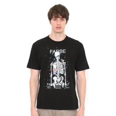 tシャツ Tシャツ ベーシックTシャツ/ドリッピングスカル(ブラック)