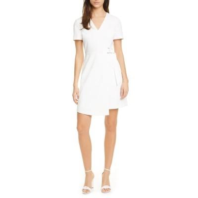 テッドベーカー レディース ワンピース トップス Marimel Wrap Front Short Sleeve Dress WHITE