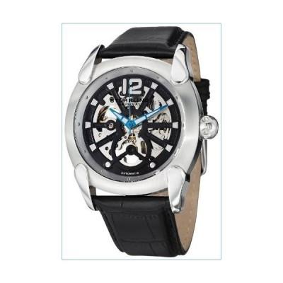 Stuhrling Original Men's 725.01 Gen X Axial Automatic Skeleton Stainless Steel Black Dial Watch並行輸入品