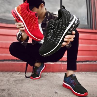 スニーカー ランニングシューズ エアクッション レディース メンズ  スポーツシューズ ウォーキング  軽量日常着用運動靴男女兼用 アウトドア