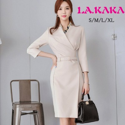 ドレスキャバ。無地。シンプルでエレガントなドレスです。通勤にも利用可能な汎用性が高い一着です。