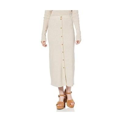[リリーブラウン] ボタニカルニットスカート LWNS196017 レディース BEG 日本 F (FREE サイズ)