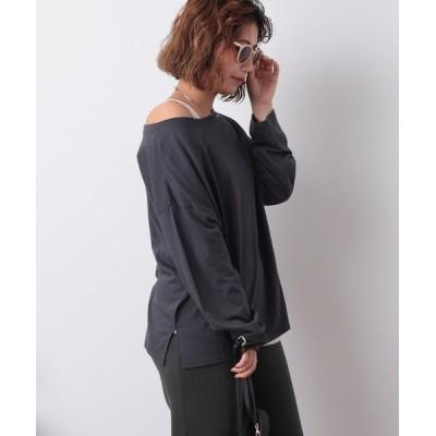 FREAK'S STORE / 【WEB限定】オフショルダーレーヨンロンT×タンクトップ セットTシャツ WOMEN トップス > Tシャツ/カットソー