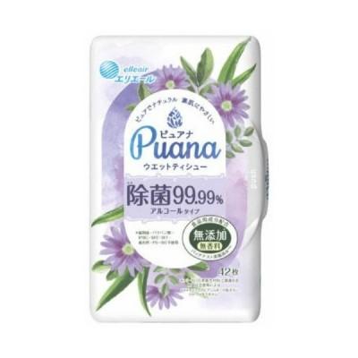 大王製紙 エリエール ピュアナ ウエットティシュー 除菌99.99%アルコールタイプ 本体 42枚入