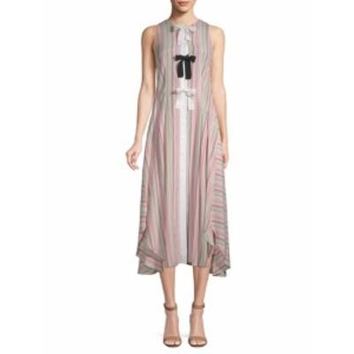スポーツマックス レディース ワンピース Stripe Midi Dress