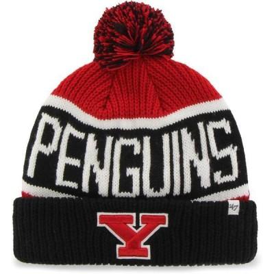 フォーティーセブン メンズ 帽子 アクセサリー '47 Men's Youngstown State Penguins Red Calgary Cuffed Knit Hat