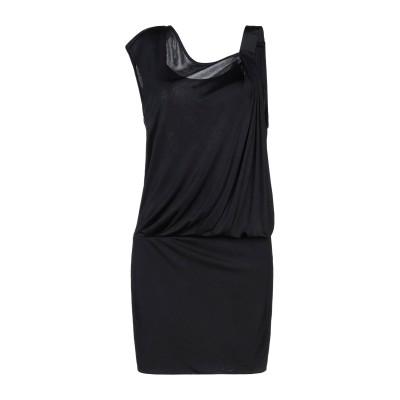 ピンコ PINKO ミニワンピース&ドレス ブラック M レーヨン 100% ミニワンピース&ドレス