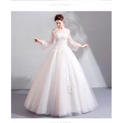超豪華なロングトレーン♪ロングトレーン♪ウェディングドレス♪高級ウエディングドレス格安.激安お花嫁ドレス結婚式/二次会/パーディ-//