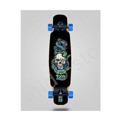 新品未使用!!送料無料!!Skate Skateboard Longboard Complete Mix Bamboo 46x9 Txin Blue Snake