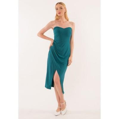 ベベージュ Bebebeige レディース パーティードレス ワンピース・ドレス Tube Dinner Dress Green