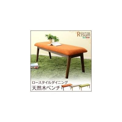 ダイニングチェア単品(ベンチ) ナチュラルロータイプ 木製アッシュ材|Risum-リスム-[03]