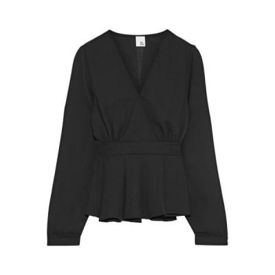 IRIS & INK ブラウス ファッション  レディースファッション  トップス  シャツ、ブラウス  長袖 ブラック