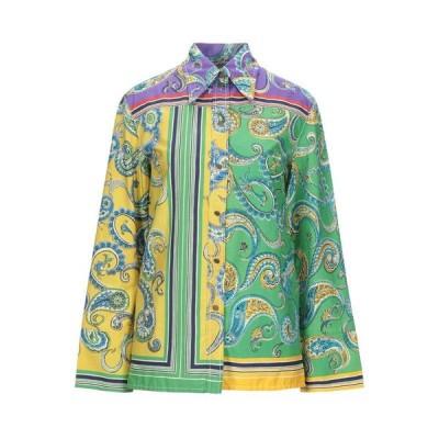 PHILOSOPHY di LORENZO SERAFINI 柄入りシャツ&ブラウス  レディースファッション  トップス  シャツ、ブラウス  長袖 グリーン