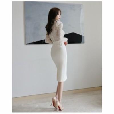 ドレス キャバドレス パーティードレス 大きいサイズ スタンドカラー タイト レース柄 ひざ丈 フォーマル キャバ嬢