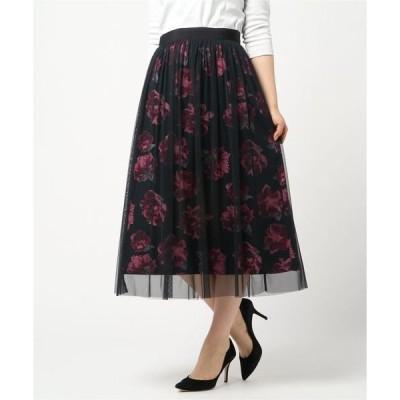 スカート 【店舗限定】チュールレイヤードスカート
