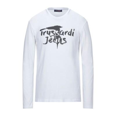 トラサルディ ジーンズ TRUSSARDI JEANS T シャツ ホワイト S コットン 100% / ポリウレタン T シャツ