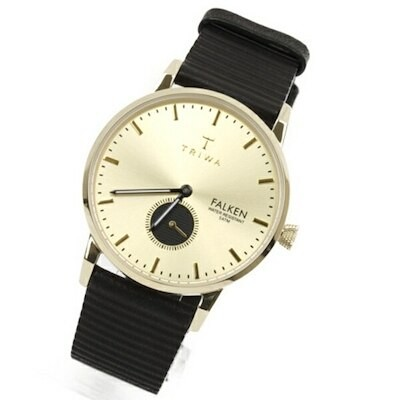 新作 トリワ 時計 メンズ レディース ユニセックス 腕時計 ファルケン スモセコ ブラック レザー ゴールド FAST107-WC010117 誕生日 お祝い ギフト