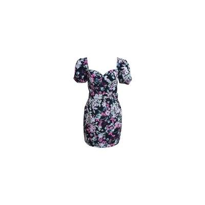 バースリー ワンピース トップス レディース Belted Floral-Print Bustier Dress,  Floral Fascade