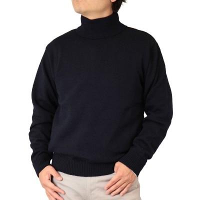 【4色:M/L/LL】ウール100% 10ゲージ 天竺無地 タートル/ハイネックセーター 紳士/日本製(2013)