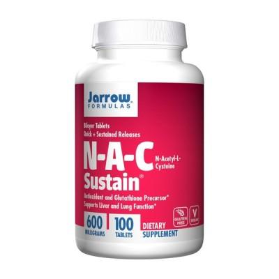 ジャローフォーミュラズ N-A-Cサステイン100タブレット【Jarrow Formulas】N-A-C Sustain100 Tablets
