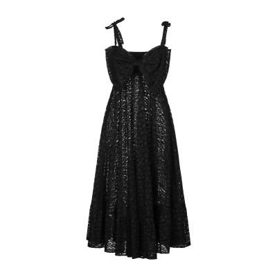 エムエスジーエム MSGM 7分丈ワンピース・ドレス ブラック 40 レーヨン 50% / ナイロン 50% 7分丈ワンピース・ドレス