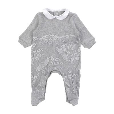 LADIA 乳幼児用ロンパース グレー 3 ウール 100% 乳幼児用ロンパース