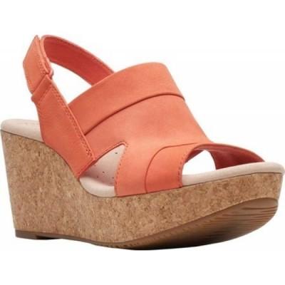 クラークス Clarks レディース サンダル・ミュール ウェッジソール シューズ・靴 Annadel Ivory Wedge Sandal Coral Nubuck