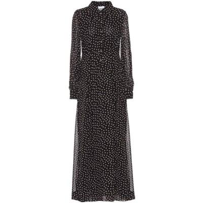 ガニー Ganni レディース ワンピース マキシ丈 ワンピース・ドレス printed georgette maxi dress Black