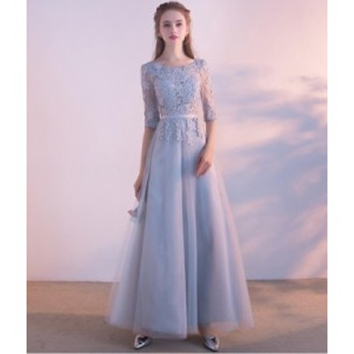 ウェディングドレス  プリンセスライン  着痩せ 半袖 結婚式 花嫁 二次会 レース パーティードレス