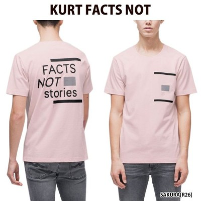 NUDIE JEANS ヌーディージーンズ Tシャツ KURT FACTS NOT STORIES メンズ