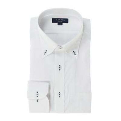 形態安定抗菌防臭スリムフィット ドゥエボットーニボタンダウン長袖ビジネスドレスシャツ/ワイシャツ