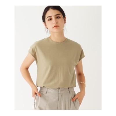 オペーク ドット クリップ OPAQUE.CLIP 【WEB限定サイズ】フレンチスリーブTシャツ (ベージュ)