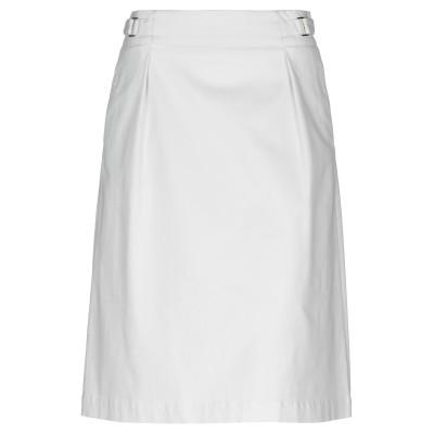 CAPPELLINI by PESERICO ひざ丈スカート アイボリー 42 コットン 98% / ポリウレタン 2% ひざ丈スカート