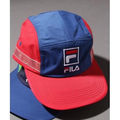 FUNALIVE / 【FILA heritage】マグロゴ5パネルタフタ配色切替ジェットキャップ MEN 帽子 > キャップ