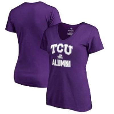 Fanatics Branded ファナティクス ブランド スポーツ用品  Fanatics Branded TCU Horned Frogs Womens Purple Plus Sizes Team Alumni T-